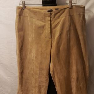 Wilson Leather 100% Suede Tan Leather pants